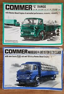 Commer lorry sales brochure packs  - great collectors item
