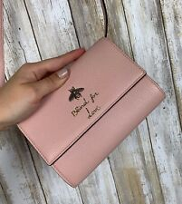 GUCCI Blind For Love Bee Crossbody Bag Pale Pink Blush WOC Wallet Strap RARE