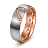 Personalized Stainless Steel Ring Custom Engraved Name Jewelry Gift For Lover