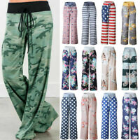 Fashion Women Long Pant Yoga Lounge Sport Wide Leg Casual Loose Trousers