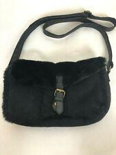 Atmosphere Black Faux Fur Handbag Shoulder Bag
