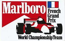 Equipo Original De Marlboro del campeonato francés GP período pegatina autocollant