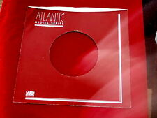 "ATLANTIC RECORDS~RED  ~ RECORD COMPANY SLEEVE ~ 7"" SINGLE 45 RPM"