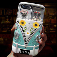 Couple Pug Hippie Peace Dog Lovers Phone Case Iphone 11 Pro X Xr Xs Max 8 7