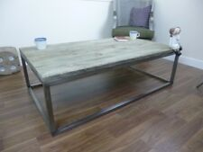 Industrial Syle Coffee Table - Wooden Top - Metal Frame