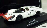 SCHUCO 1/43 - 450372600 PORSCHE 908 #21 MITTER NORISRING 1968 DIE-CAST MODEL CAR