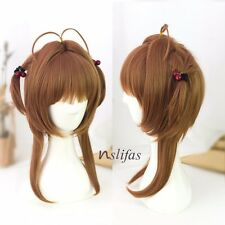 Anime Card Captor Sakura Kinomoto Sakura Cosplay Full Wig Short Brown Hair Wig