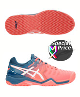 ASICS GEL RESOLUTION 7 CLAY Scarpe Sport Tennis Donna Women Shoes E752Y-701