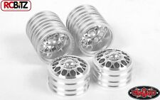 "Double Trouble ""3"" Aluminum Dually 1.9"" Glue On Wheels 12mm Hex SILVER Z-W0194"