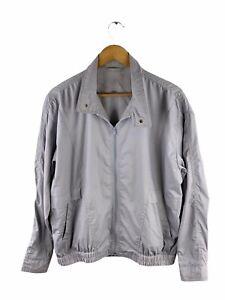 McGregor Full Zip Bomber Jacket Mens Size XL Grey Long Sleeve Pockets Collared