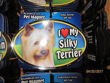 I Love My Silky Terrier 6 inch oval magnet for car or anything metal  New