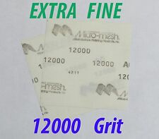 "Micro-Mesh  Finishing Sheet 2 sheets 6'' x 6"" 12000 grit Extra Fine SANDPAPER AO"