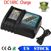 DC18RC For Makita Charger 14.4V-18V Battery Charger for BL1860 BL1850 BL1840 NEW