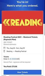 reading festival weekend tickets 2021