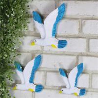3Pcs Ocean Sea Flying Seagull Mediterranean Ornament Home Wall Hanging Decor