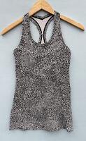 Lululemon Tank Top 4 Black White Speckled Cool Racerback Shirt Sleeveless CRB