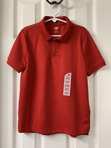 New Boys Old Navy Moisture Wicking Short Sleeve Red Uniform Shirt Size: S (6-7)