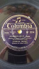 FRANCE 78rpm RECORD Columbia CHARLES TRENET Formidable / De la fenetre d´en haut