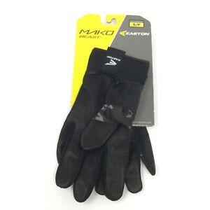 Easton Mako Beast Batting Gloves Black / Silver Size Youth Small NEW