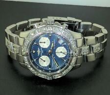 BREITLING MEN'S COLT CHRONOGRAPH A73350 BLUE DIAL DIAMOND WATCH