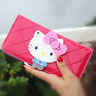 New Women Hello Kitty Fashion Designer Leather Long Wallet Zippered Purse Gifts