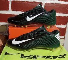 NIKE CARBON VAPOR ELITE TD FOOTBALL CLEATS SIZE 15 BLACK GREEN WHITE 657441-022