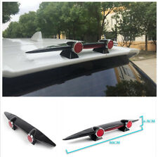 Black ABS Car Rear Roof Tunck Spoiler Wing Airplane Shaped with Red light Decor