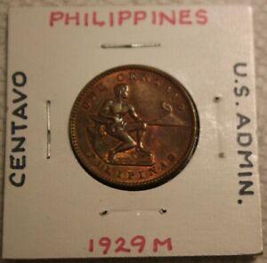 1929M PHILLIPPINES CENTAVO COIN US ADMINISTRATION