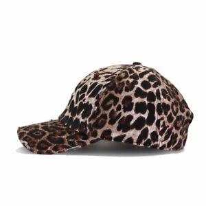 Leopard Baseball Cap Ball Hat Adjustable Dad Hat Women or Mens Ballcap