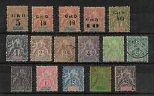 Guadeloupe 1892-1903,16 stamps Scott # 27//48,VF Mint Hinged*/Used/2 MNG FC-6
