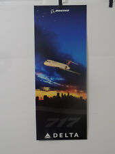 DELTA AIRLINES CITY SKYLINE POSTERS LOT OF 3 NEW YORK, ATLANTA, MINNEAPOLIS