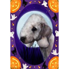 Bedlington Terrier Halloween Howls Flag