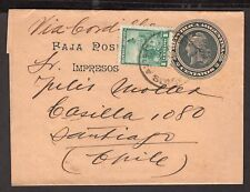 2669 Argentina To Chile Ps Stationery Wrapper 1905 Buenos Aires - Santiago