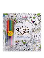 Colorama The Magic Path Adult Coloring Book with pencils. TV. Easter basket