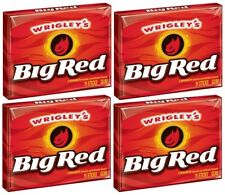 4x Wrigley's Big Red Cinnamon Flavoured Gum American Sweets