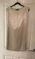 FRENCH CONNECTION GOLD SHIFT PARTY NEW YEARS EVE COCKTAIL DRESS SIZE 14