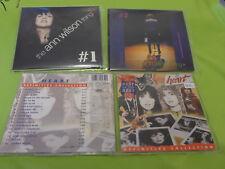 4 CD HEART WILSON ANN NANCY 2 DEFINITE + LIVE BONUS CD + 2 FOCUS #1 #2