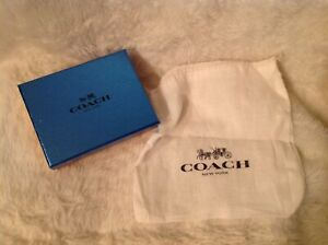 Coach set of 2; gift box  & Linen gift bag