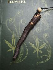 RARE Silver Birch ROOT Wood Wand Pendant - Wicca, Witchcraft, Pagan, Ogham Tree