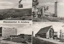OBERWIESENTHAL Ansichtskarte 1983, Oberwiesenthal Kreis Annaberg Sommer-Winterku