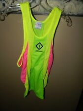 RON HILL Sportswear Mens Running Top Tank Neon Colors Size Small