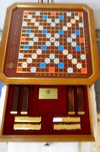 Franklin Mint Scrabble Collector's Edition w/24Kt Gold Plated Tiles,BRAND NEW