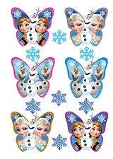 24 FROZEN Schmetterlinge Anna Elsa OLAF Eiskönigin Muffinaufleger Muffin Brownie