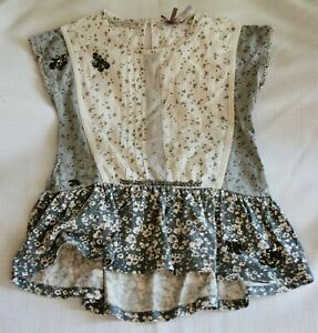 Next girls grey / white sleeveless top - age 6 years