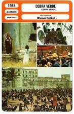 FICHE CINEMA : COBRA VERDE - Klaus Kinski,Werner Herzog 1988