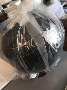 "Spherical Concepts ArtLine Globes 8"" Acrylic Earthsphere Table Globe Onyx New"