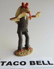 LOOSE Taco Bell 1999 Star Wars JOKING JAR JAR BINKS Sticks TONGUE OUT Cake TOP