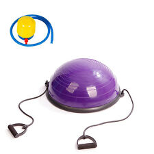 """Home Balance Trainer 23"""" 58cm Workout Exercise Ball Fitness Gym w/Pump purple"""