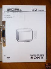 Servizio manuale Sony Trinitron KV-W2813/W2812U TV, origine