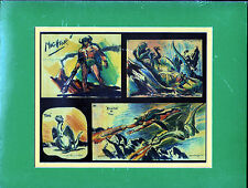 MIGHTY MIGHTOR & TOG COLLAGE PROFESSIONALLY MATTED PRINT Hanna Barbera